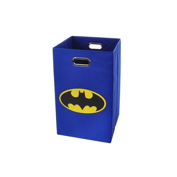 Batman Logo Blue Folding Laundry Basket