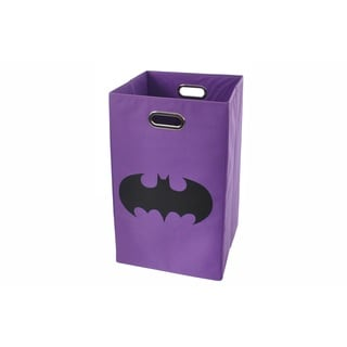 Batman Shield Purple Folding Laundry Basket