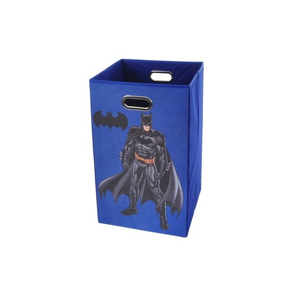 Batman Blue Folding Laundry Basket