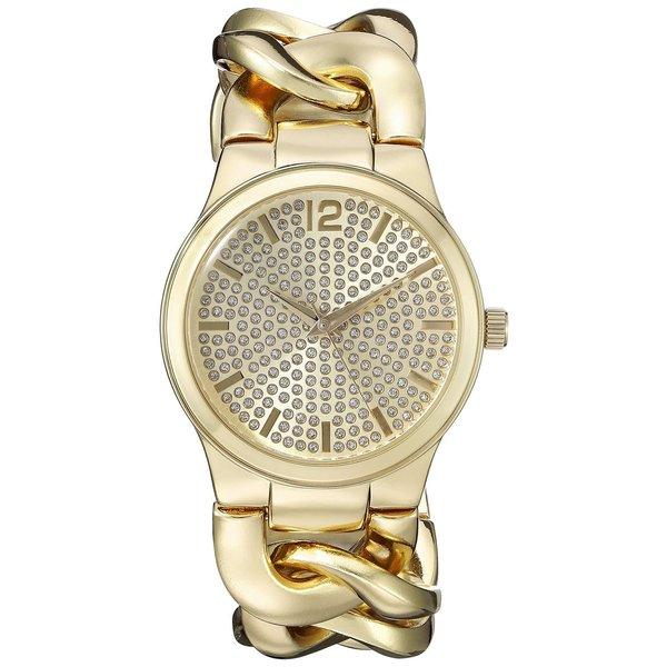 Vernier Paris Women's Pave' Crystal Dial Chain Link Watch 16624296