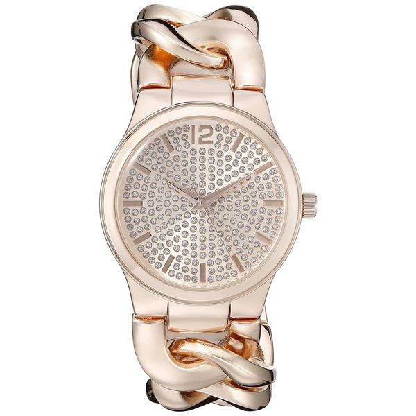 Vernier Paris Women's Pave' Crystal Dial Chain Link Watch 16624297