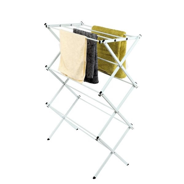 StorageManiac White Folding Clothes Drying Rack