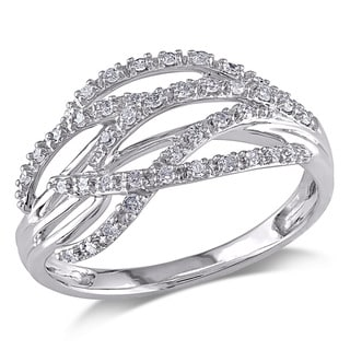 Miadora 14k White Gold 1/5ct TDW Diamond Ring (H-I, I1-I2)