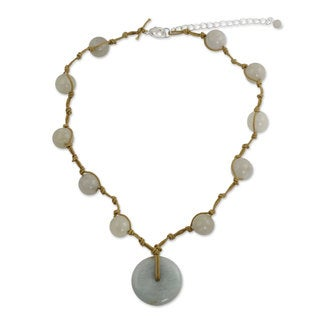Sterling Silver 'Independent Spirit' Jade Necklace (Thailand)