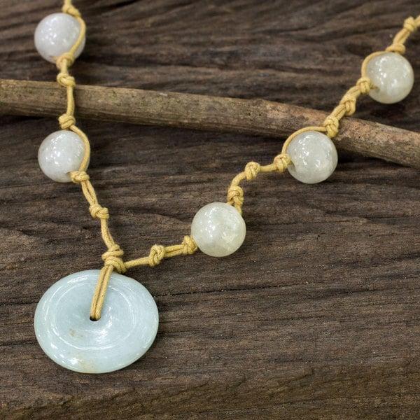 Sterling Silver 'Independent Spirit' Jade Necklace (Thailand)