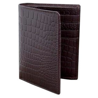 Handcrafted Leather 'Brown Crocodile' Wallet (India)