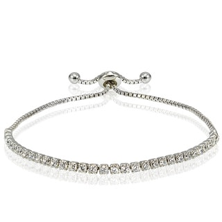 Icz Stonez Cubic Zirconia Adjustable Pull-String Bracelet