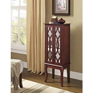 Bombay Outlet Sienna Java and Mirror Jewelry Armoire