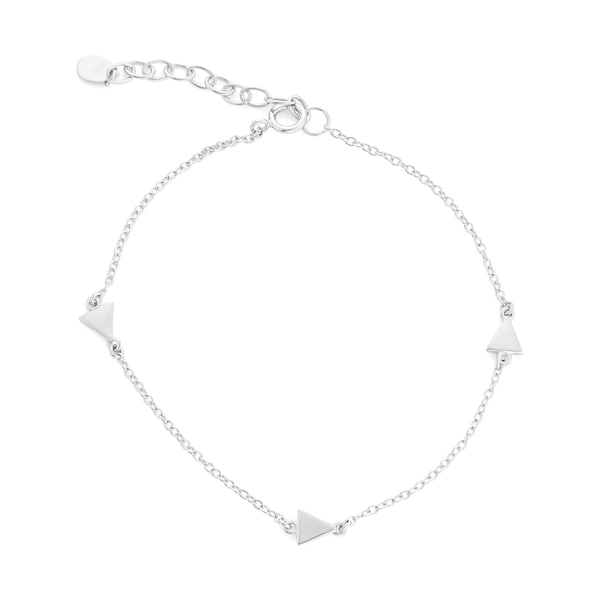 La Preciosa Sterling Silver Small Triangles Link Bracelet
