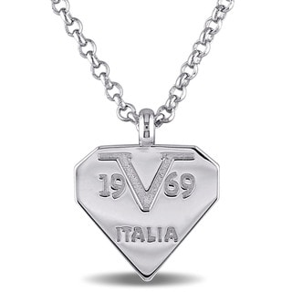 Versace 19.69 Abbigliamento Sportivo SRL Sterling Silver Logomark Necklace