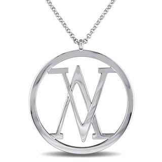 Versace 19.69 Abbigliamento Sportivo Sterling Silver Insignia Necklace