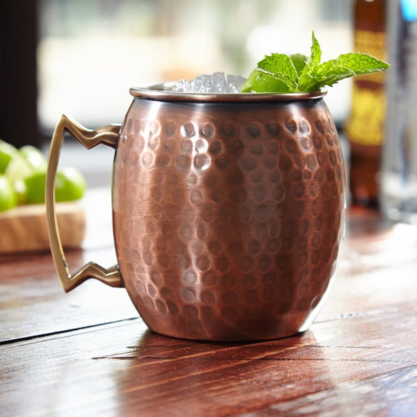 Old Dutch Handmade Pure Copper Hammered 16oz Moscow Mule Mug