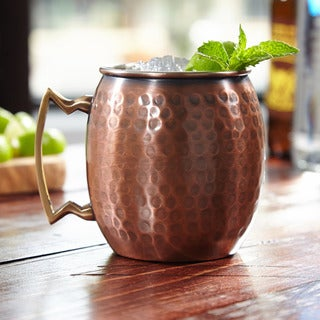 Old Dutch Handmade Pure Copper Hammered 16oz Moscow Mule Mug