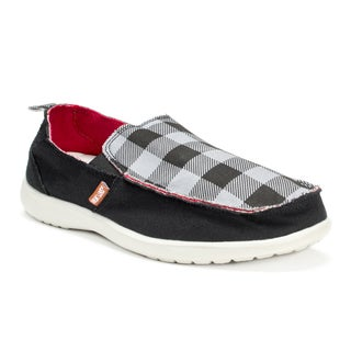 Muk Luks Men's Black Plaid Andy Shoes