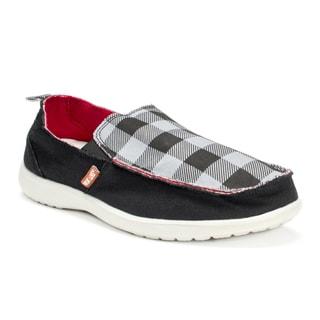 Muk Luks Men's Black Plaid Andy Shoes