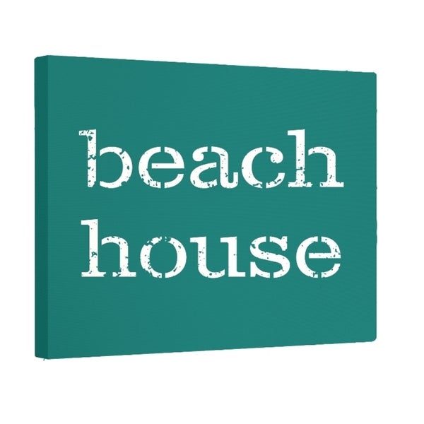 Beach House Word Print 16 x 24-inch Outdoor Wall Art