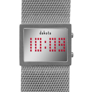Dakota Women's Digital Mirror Mesh Band Watch