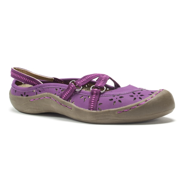Muk Luks Women's Purple Erin Strap Shoes
