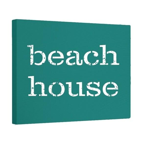 Beach House Word Print 20 x 24-inch Outdoor Wall Art