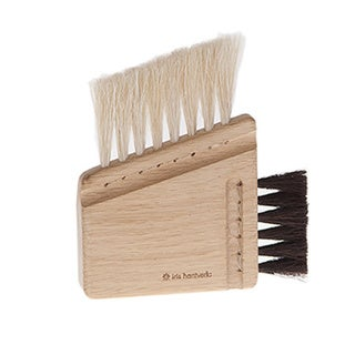 Iris Hantverk Horse Hair and Oak Combination Computer Brush