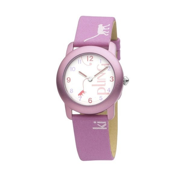 Kipling Kid's Fun Monkey Pink Quartz Watch
