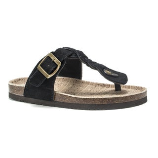 Muk Luks Women's Black Marsha Sandals