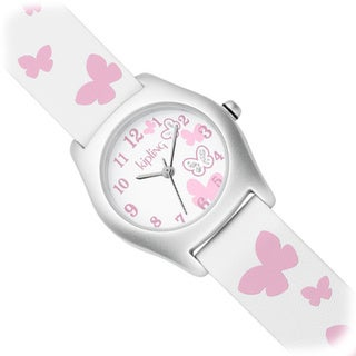 Kipling Pink Butterfly Girl's Quartz Watch