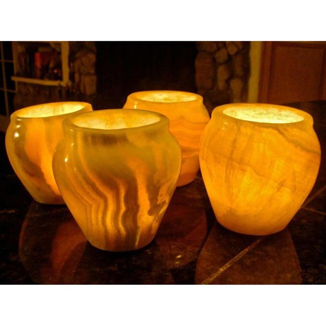 Alabaster Amphoras Set, Handmade in , Handmade in Egypt