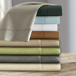 Luxury Sateen Cotton Blend 1000 Thread Count Deep Pocket Sheet Set in Mocha Size Cal-King (As Is Item)