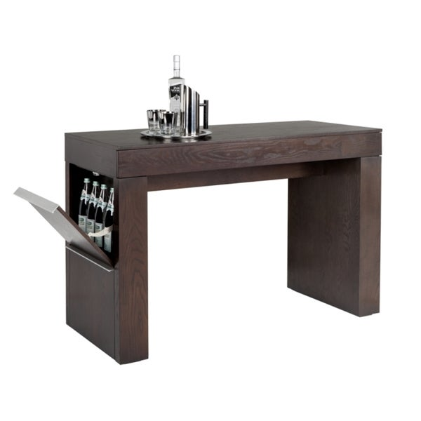 Sunpan 'Ikon' Bradley Counter Table with Front drawer and Storage Compartment