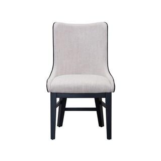 Sunpan Aviva Dining Chair in Beige Linen Fabric (Set of 2)