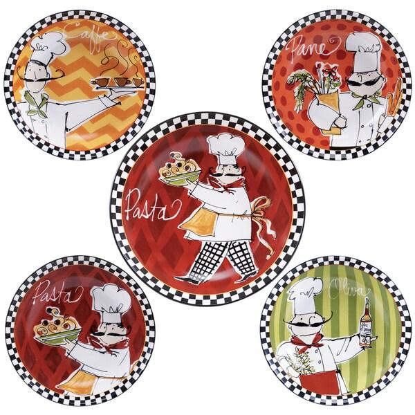 Certified International Chefs on the Go 5-piece Ceramic Pasta Set