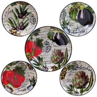 Certified International Botanical Veggies 5-piece Pasta Set