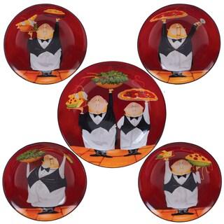 Certified International Waiters 5-piece Ceramic Pasta Set