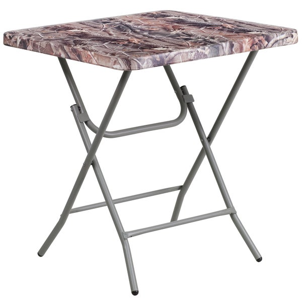 "27"" Square Camouflage Plastic Folding Table"