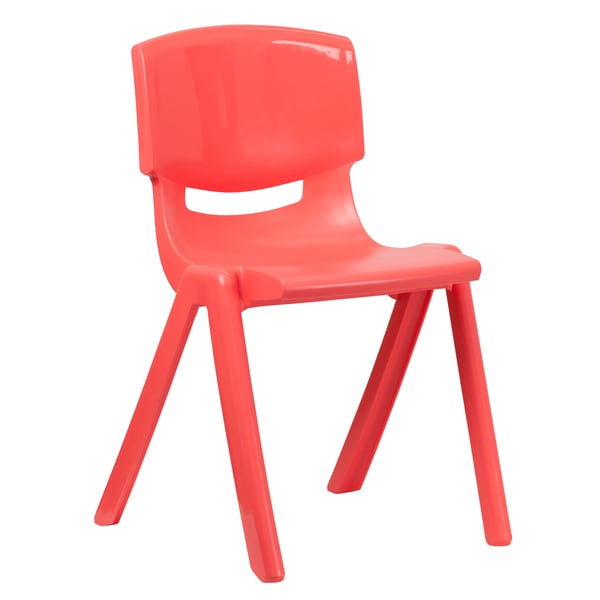 "Plastic Stackable School Chair with 18"" Seat Height"