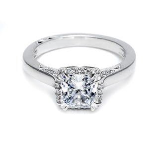 Tacori 18k White Gold 1/8ct TDW Semi Mount Diamond Engagement Ring (G-H, VS1-VS2)