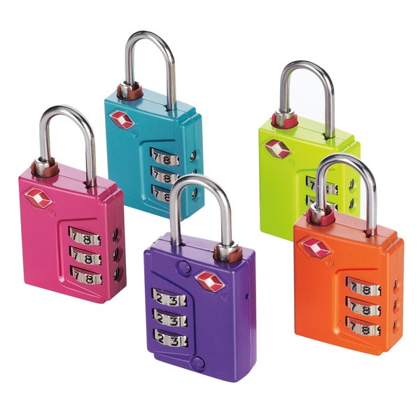 Travel Smart by Conair TSN90TS Travel Sentry Padlock Assorted Colors
