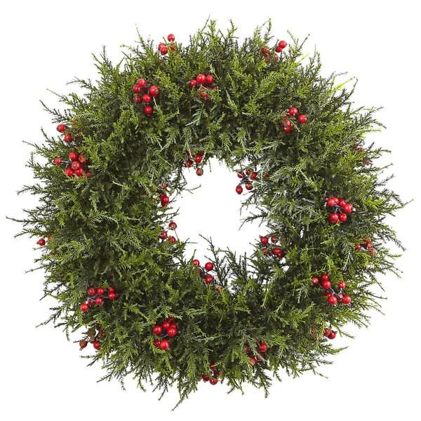 20-inch Cedar Berry Wreath