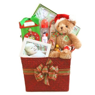 California Delicious Baby's First Christmas Gift Basket