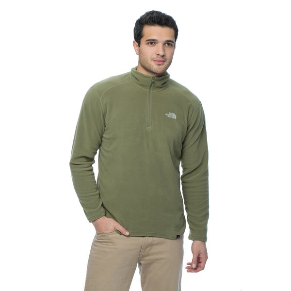 The North Face Men's Burnt Olive Green 100 Glacier 1/4 Zip