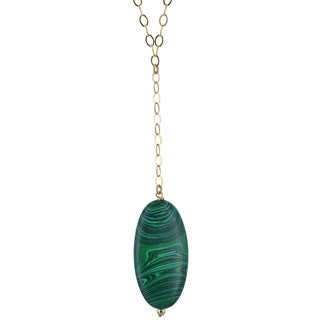 Malachite Gemstone Sterling Silver Handcrafted Necklace by Ashanti