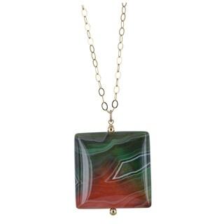 Ashanti Sardonyx Gemstone 14 Karat Gold Filled Handcrafted Necklace