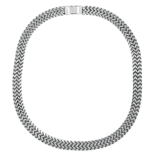 Stainless Steel Men's Two-strand Wheat Chain Necklace
