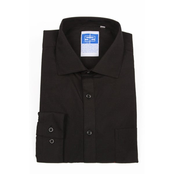 Complicated Shirts Men's Solid Black Shirt