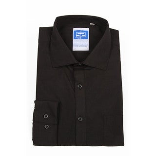 Complicated Shirts Men's Solid Black Button Down