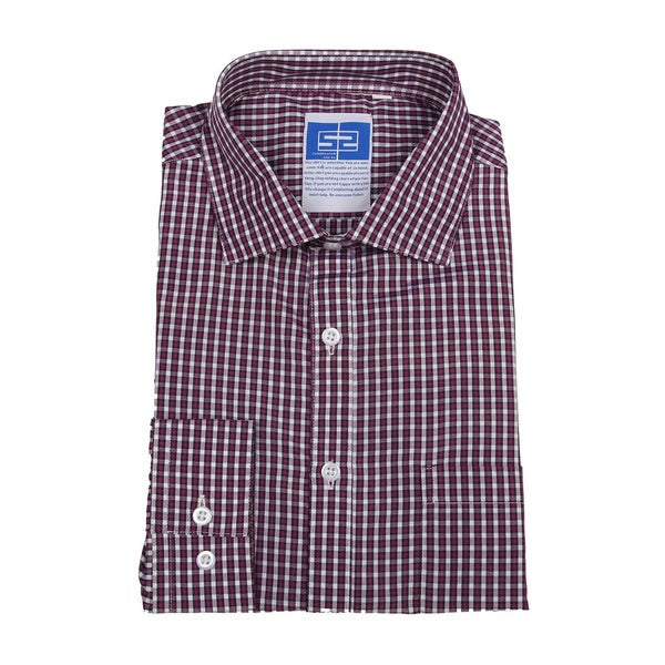 Complicated Shirts Men's Purple Check Shirt