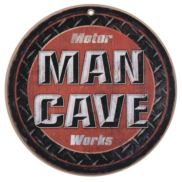 Vintage Wooden Art 'Man Cave' Decorative Sign