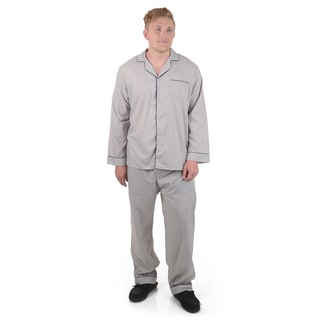 Vance Co. Men's 2-pc Long Sleeve Solid Color Pajama Set