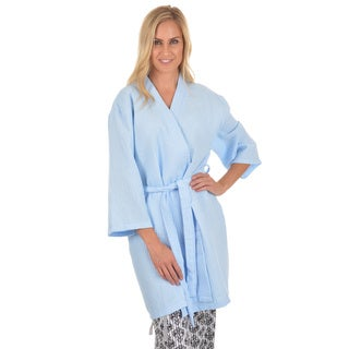 Journee Collection Women's Solis Waffle Weave Bath Robe